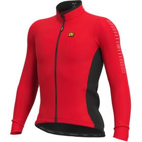 Alé Cycling Solid Fondo Maglia Jersey A Maniche Lunghe Uomo, rosso